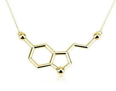 Amazon senfai my chemical romance necklace serotonin molecule senfai my chemical romance necklace serotonin molecule simple necklace pendants for women gold aloadofball Image collections