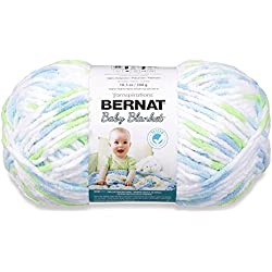 Bernat Baby Blanket Yarn - (6) Super Bulky Gauge - 10.5 oz - Funny Prints - Single Ball Machine Wash & Dry