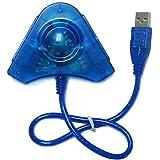 PS2 - Adaptador Conversor USB Duplo para Controle Playstation 2 PS2 e PS1
