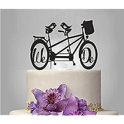 ShinyBeauty Bicycle-Cake-Topper,Acrylic Wedding Cake Topper (Design 5)