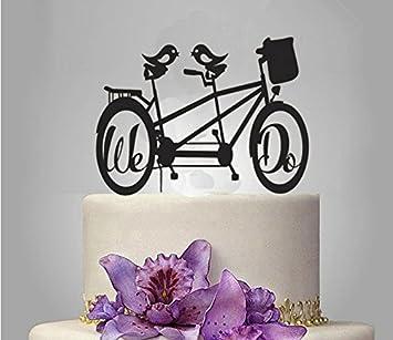 Shinybeauty Fahrrad Kuchen Topper Acryl Hochzeitstorte Topper