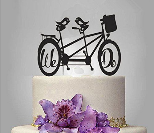 ShinyBeauty Bicycle-Cake-Topper,Acrylic Wedding Cake Topper (Design 5)