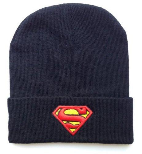 YOXO Winter Warm Knit Superman Beanie Hat for Men and Women Winter Cap Skully]()