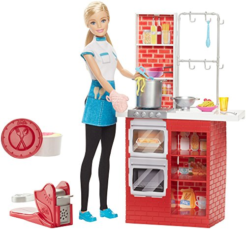 Barbie Spaghetti Chef Doll & Playset (Barbie Doll Restaurant compare prices)