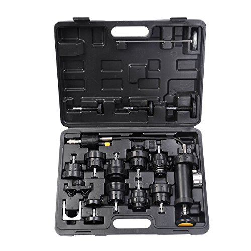 Goplus 18pcs Universal Radiator Pressure Tester and Vacuum Pump Type Cooling System Kit ()