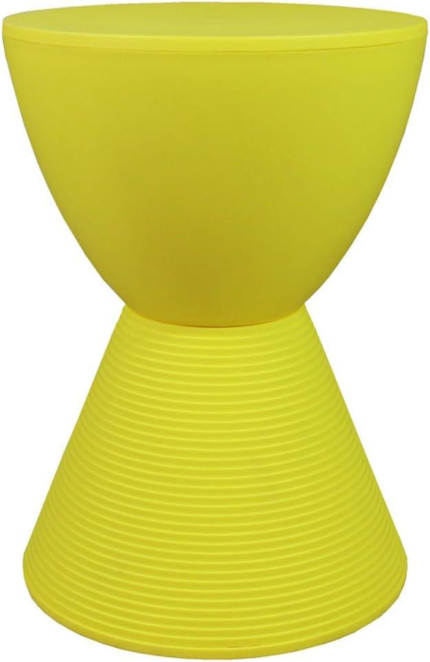 Color : Orange CJH Tabouret en Plastique cr/éatif Banc de Mode Simple Tabouret en Cuir Banc Canap/é Tabouret Table Basse Maison Chaise
