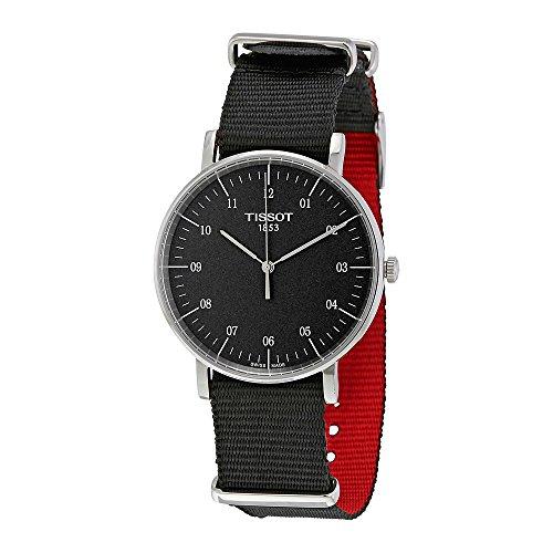 Tissot-Everytime-T1094101707700-BlackBlack-Nylon-Analog-Quartz-Unisex-Watch
