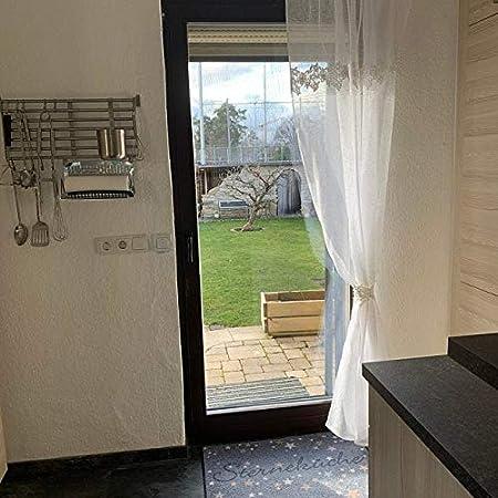 Rideau bistrot avec dentelle 3D Style maison de campagne Shabby Chic Vintage sur mesure 30 x 60 cm