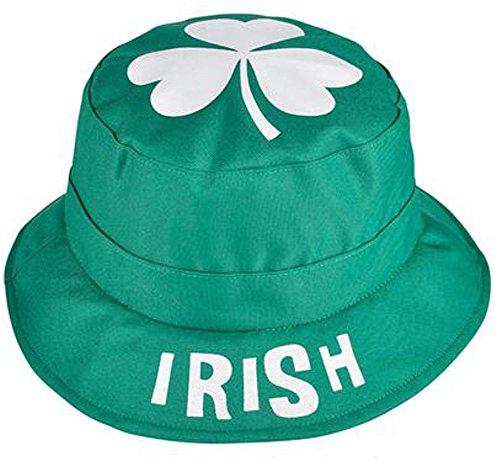 [Saint Patrick's Day Green Irish Shamrock Bucket Hat Costume Accessory] (St Patrick The Saint Costume)