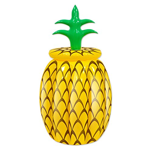"""Beistle 57885 Inflatable Pineapple Cooler, 20"""" Width x 36"""" H"""