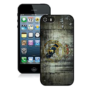 Fashion And Unique iPhone 5S Case Designed With Real Madrid 3 Black iPhone 5S Cover