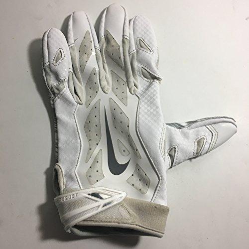 - 2016 Season LEFT HAND ONLY Brice Butler #19 Game Used Nike Vapor Jet Football Glove Dallas Cowboys XL Oakland Raiders