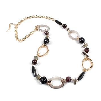 db2f7f183d20 Conjuntos de collar y aretes de bisutería 14 K chapado en oro cadena de eslabones  2 ...