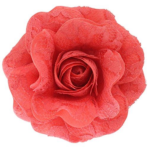 Coral Flowers Brooch - 2