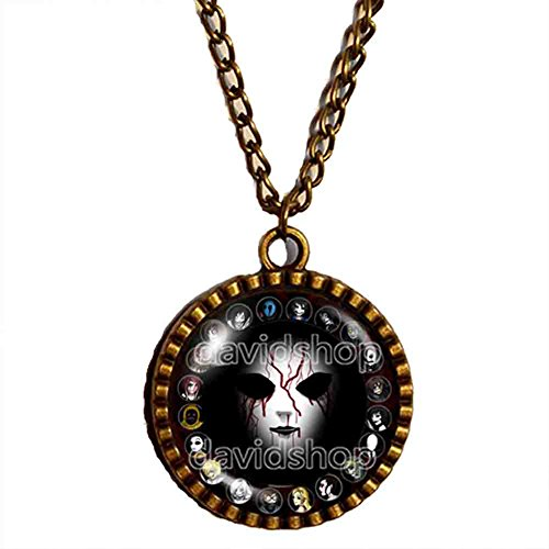Handmade Design By ShiCong Fashion Jewelry Mask Symbol Art Creepypasta CREEPY PASTA Masky Necklace Pendant Cosplay Charm Gift Men Chain -