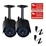 Cheap VideoSecu 2 Outdoor CCTV Infrared Day Night Vision Bullet Security Cameras Weatherproof 520TVL High Resolution 36 IR LEDs for DVR Home Surveillance with Power Supplies C85