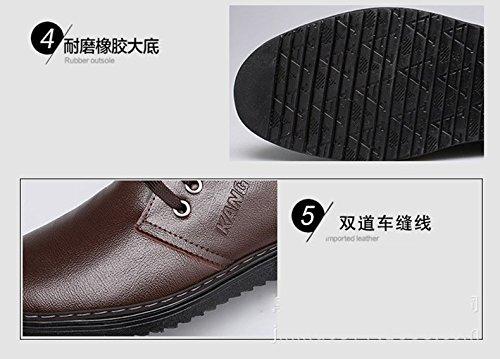 Leather Gaorui Casual Spring Dress Brown Lace Oxford Men Shoe Upper up Soft Business Formal qqxzPwr