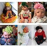 18pcs Baby Girls Headbands Chiffon Flower Soft