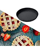 Tamicy 2 Pack Tart Pan with Removable