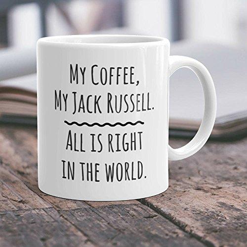 LIZNICE - Jack Russell Gift Jack Russell Mug Jack Russell Dog Jack Russell Terrier Jack Russell Coffee Jack Russell Cup I Love Jack Russell Terriers MUG (Terrier Large Mug)