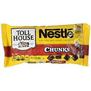 Nestle Toll House Semi Sweet Chocolate Chunk Morsels, 11.5-Ounce Packages (Pack of 12)