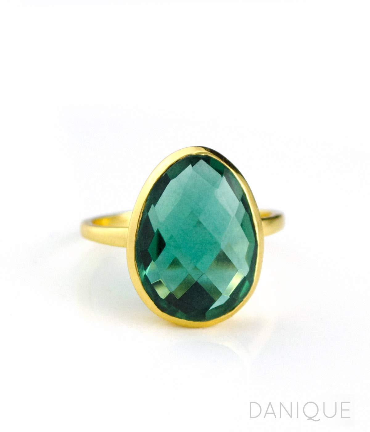 1.5 mm Round Cut Tourmaline Ring Dainty Green Tourmaline Stackable Ring Synthetic Green Tourmaline Stacker Silver Ring October Birthstone