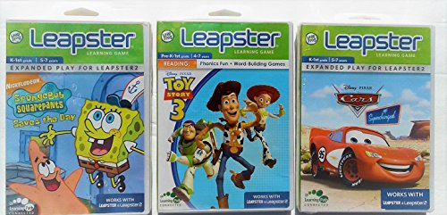 Leapster Educational Car (LEAPSTER Learning Games: Cars Supercharged + SpongeBob SquarePants Saves the Day + Toy Story 3 - Value Pack)