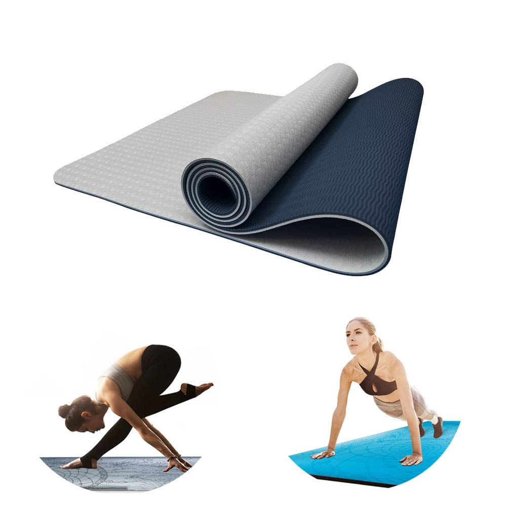 Estera de Yoga y Pilates de Doble Capa Hecha de 6 mm de ...