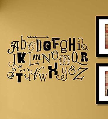 Alphabet letters Vinyl Wall Art Decal Sticker