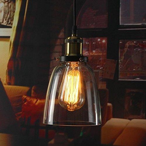 Vintage Pendant Light - Ceiling Pendant Light - Vintage Industrial Retro Loft Glass E27 Ceiling Lampshade Pendant (Retro Pendant Light)