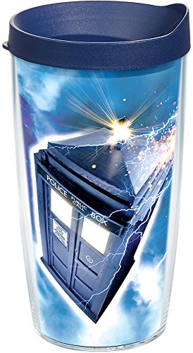 Doctor Who Travel Mug (Tervis 1258513 Bbc-Doctor Who Tardis Insulated Tumbler with Wrap and Navy Lid, 16oz,)