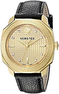 Versace Women's VQD030015 Dylos Analog Display Swiss Quartz Black Watch