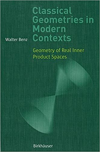 Classical Geometries in Modern Contexts: Geometry of Real Inner Product Spaces