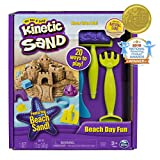 The One and Only Kinetic Sand, Beach Day Fun Playset with Castle Molds, Tools, and 12...