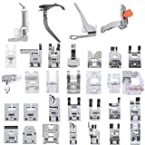 ◕‿◕ Professional Domestic 32 pcs Sewing Machine Presser Feet Set for Brother, Babylock, Singer, Janome, Elna, Toyota, New Home, Simplicity, Necchi, Kenmore, and White Low Shank Sewing Machines