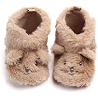 Baby Girls Boys Fluffy Home Warm Shoes, Cartoon Dog Cotton Slipper Sneaker