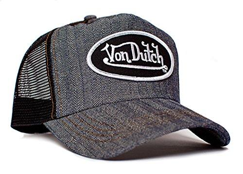 von-dutch-originals-unisex-adult-trucker-hat-one-size-black-herringbone-denim