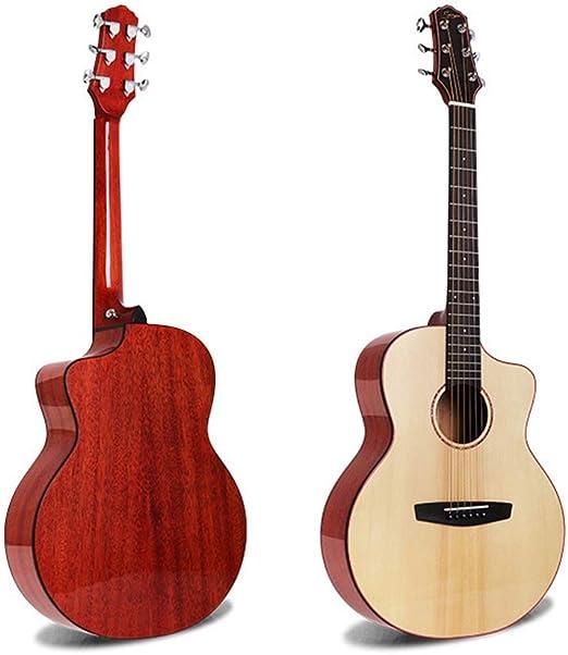 Guitarra acústica Populares oblicua de corte angular brillante de ...