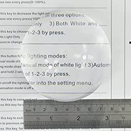 Yoctosun 3 Inch/2.5 Inch Crystal Clear Paperweight 5X Dome Magnifier with Polishing Pouch (3inch)