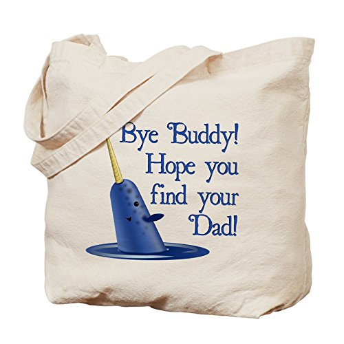 CafePress Narwhal Natural Canvas Shopping