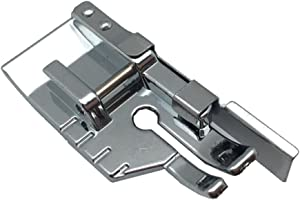 FQTANJU 1/4'' Quilting Patchwork Sewing Machine Presser Foot with Edge Guide - Fits All Low Shank Snap-On Singer, Brother, Babylock, EuroPro, Janome, Juki, Kenmore, New Home, White, Simplicity, Elna