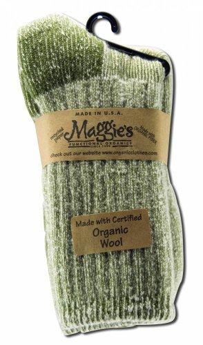 Maggie's Functional Organics - Organic Wool Killington Hiking Sock (Olive, 10-13)