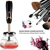 Improved Makeup Brush Cleaner And Dryer Machine - Spins To Clean - Fits All Size Brushes- Drys Fast