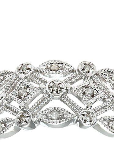 Revoni - Bague en or blanc 9 carats et diamants