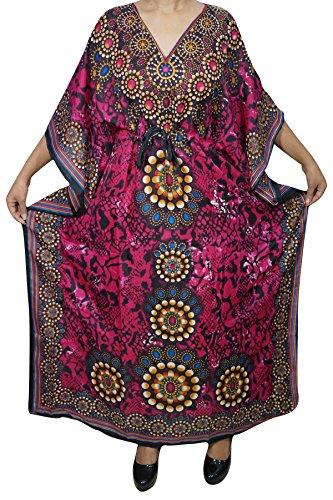 Interior Orange Rose Damen Einheitsgröße Kleid Orange Mogul Kimono 4nzSPzf