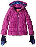 London Fog Girls' Big Warm Winter Jacket Coat with Accessory, Best Orchid, 14/16