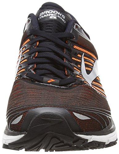 Silver Silver 5 Men Black Transcend Orange Black Brooks Orange wv17qz