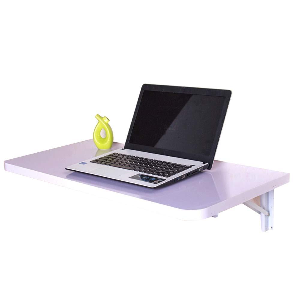 L-G-M 厚板ラックキッチンテーブル折り畳みコンピュータテーブル落書きテーブルウォールテーブル子供テーブルの壁掛け C+ (色 : 白, サイズ さいず : 100*40cm) B07K1JNRKB  白 100*40cm