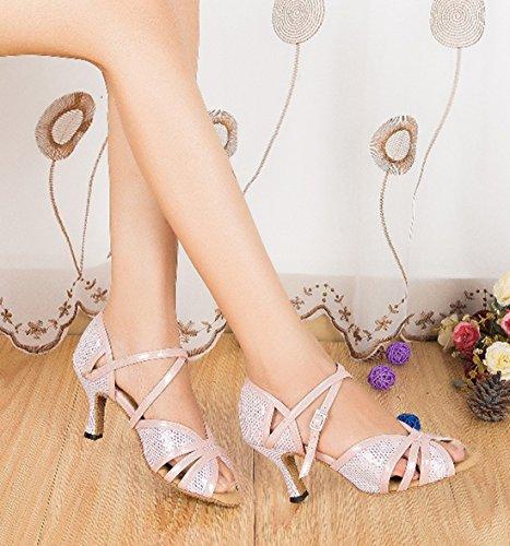 finest selection 5cfff e0150 ... Cheville Tda Femmes Mesh Imprimé Mode Latine Chaussures De Danse Salsa  Rose