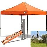 Cheap ABCCANOPY 30+colors Pop Up Canopy 10 X 10-feet Commercial Instant Canopy Kit Ez Pop up Tent,Bonus Roller Bag,Orange